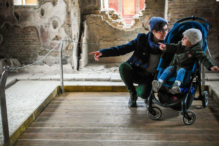 Weelchair and stroller platform
