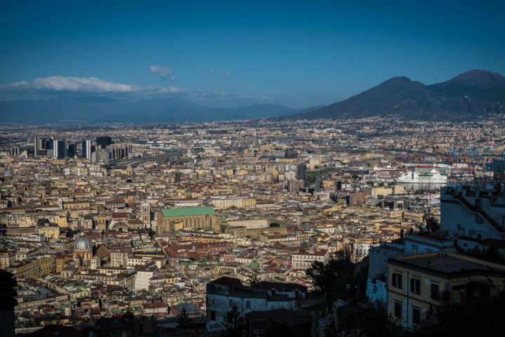 Naples View from St. Elmo Castle panoramic terrace