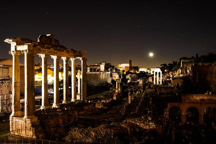 Rome under the moonlight