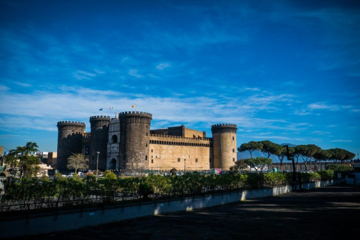 Highlights of Naples - A view of the castle from the Royal Palace