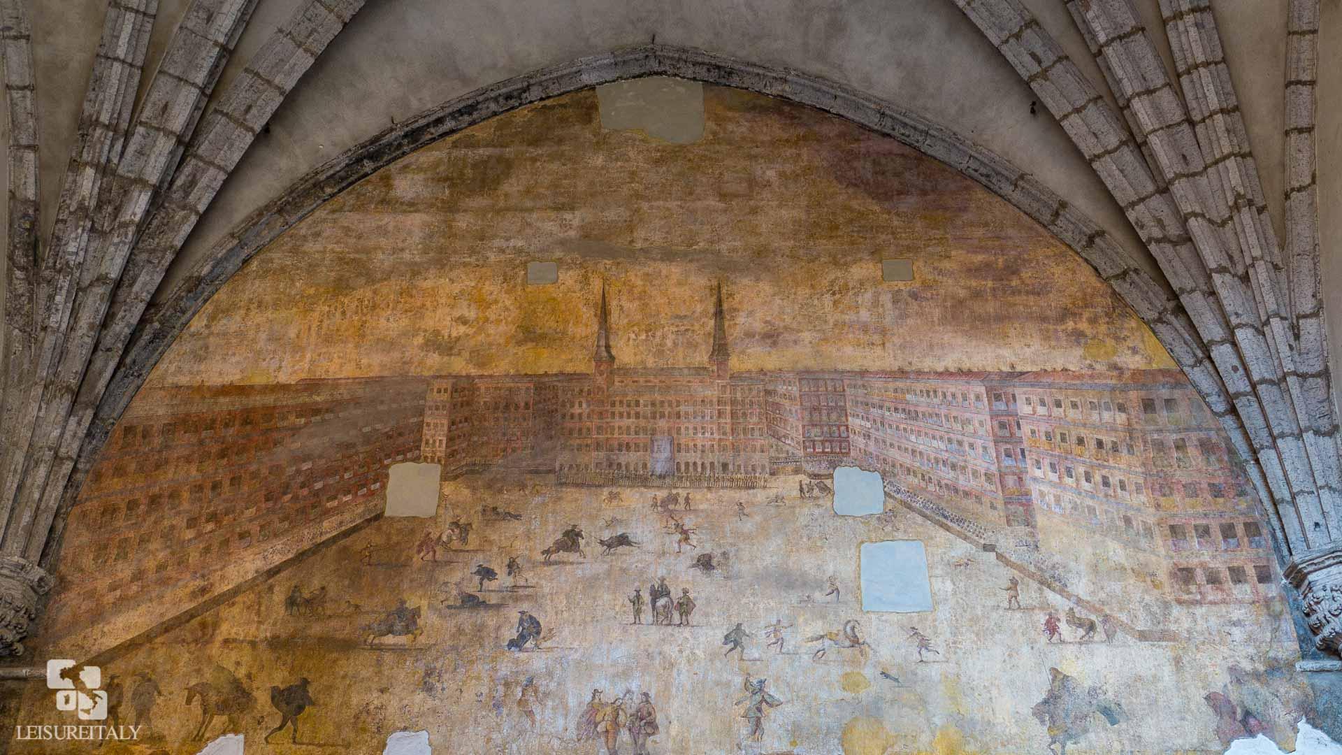 Castel Nuovo - A fresco