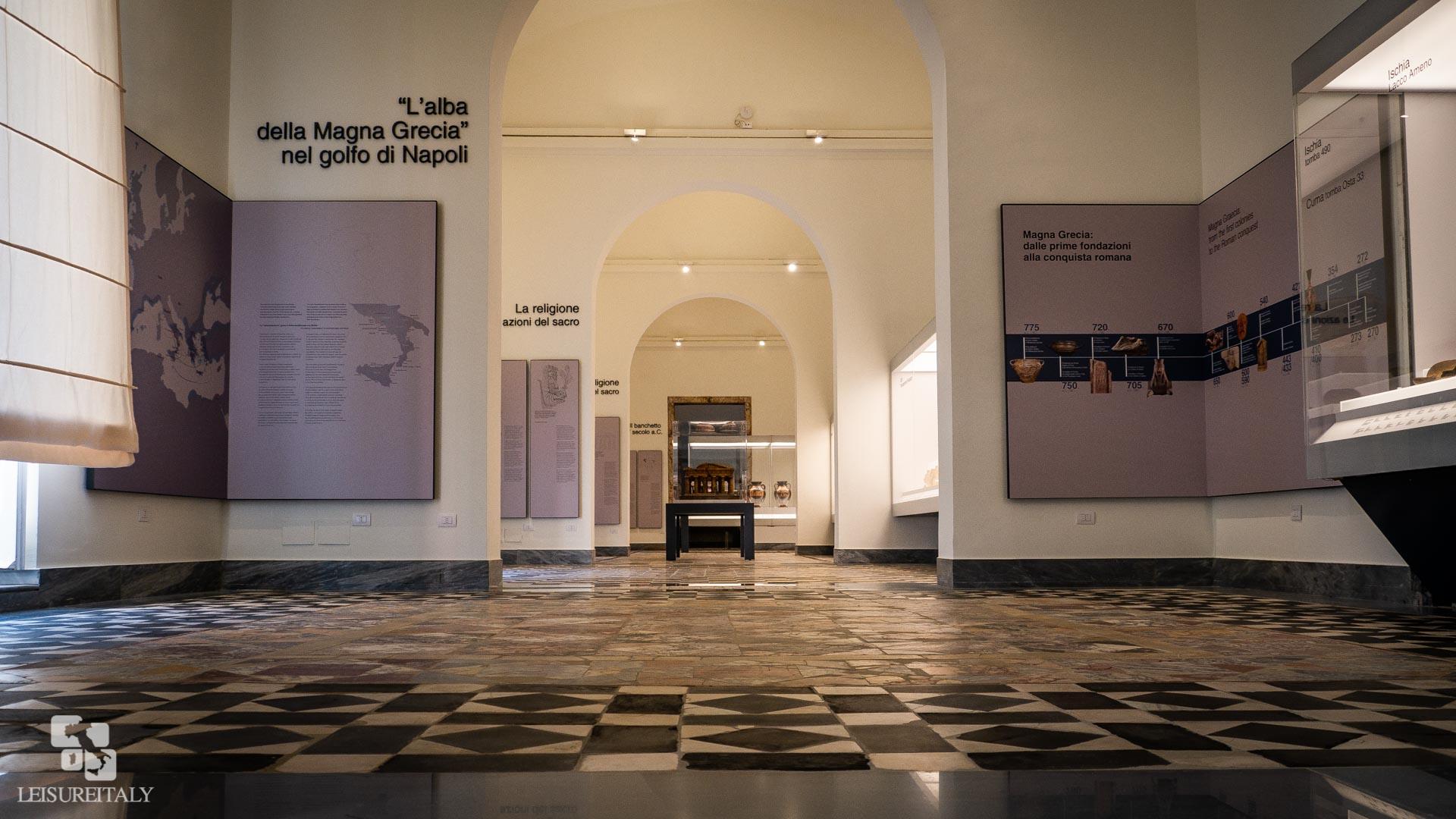 the entrance of the magna Grecia exhibit