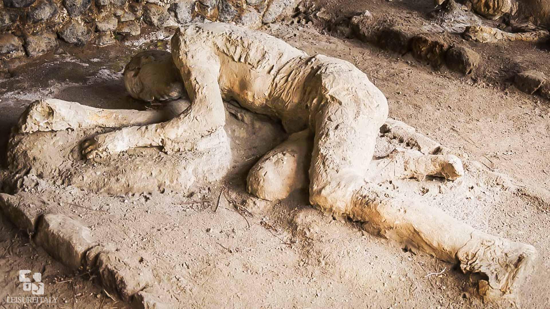 Pompeii or Herculaneum - A plaster cast at Pompeii