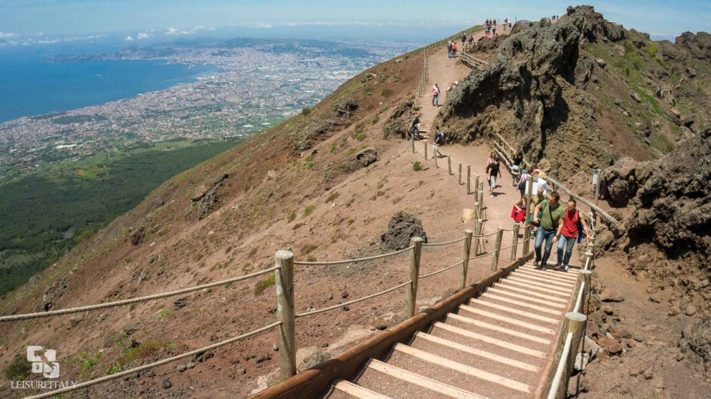 Visit Mount Vesuvius the trail to the crater's top