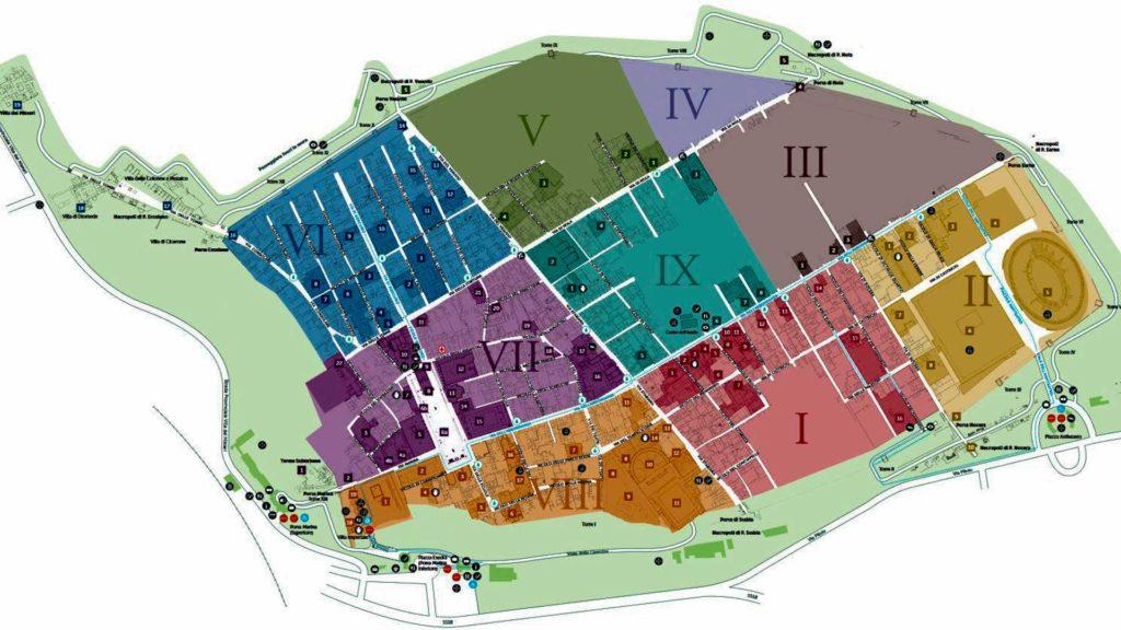 Map of the Excavations of Pompeii - Pompeii travel tips