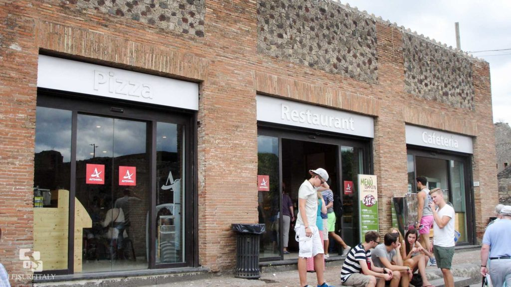 Cafeteria inside Pompeii - Pompeii travel tips